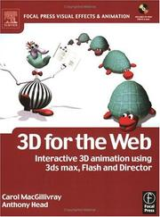 Cover of: 3D for the Web | Carol MacGillivray