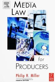 Cover of: Media Law for Producers