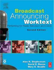 Cover of: Broadcast Announcing Worktext, Second Edition | Alan Stephenson