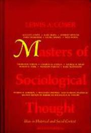 Cover of: Masters of sociological thought by Lewis A. Coser