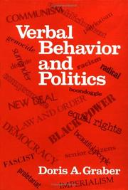 Cover of: Verbal behavior and politics
