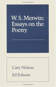 Cover of: W. S. Merwin