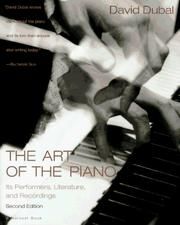 Cover of: The art of the piano