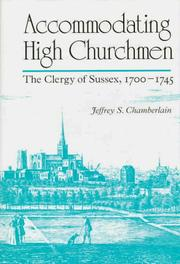 Cover of: Accommodating high churchmen