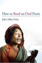 Cover of: How to read an oral poem
