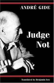 Cover of: Judge Not | André Gide