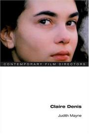 Cover of: Claire Denis | Judith Mayne