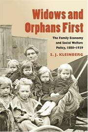 Widows and orphans first by S. J. Kleinberg