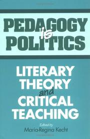 Cover of: Pedagogy Is Politics