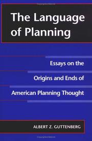 Cover of: The language of planning