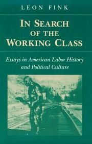 Cover of: IN SEARCH OF WORKING CLASS