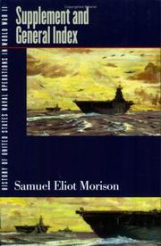 Cover of: History of United States naval operations in World War II