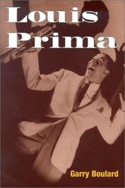 Cover of: Louis Prima (Music in American Life)
