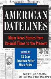 Cover of: American datelines