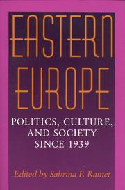 Cover of: Eastern Europe | Sabrina P. Ramet