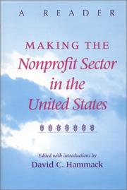 Cover of: Making the Nonprofit Sector in the United States