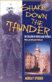 Cover of: Shake down the thunder