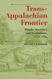 Cover of: The trans-Appalachian frontier