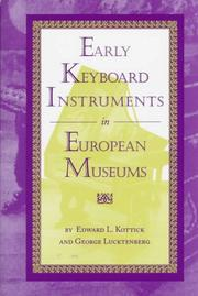 Cover of: Early keyboard instruments in European museums