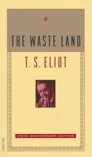 Cover of: The Waste Land