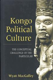 Cover of: Kongo political culture