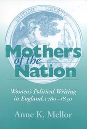 Cover of: Mothers of the nation | Anne Kostelanetz Mellor