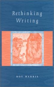 Cover of: Rethinking writing