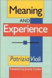 Cover of: Meaning and experience