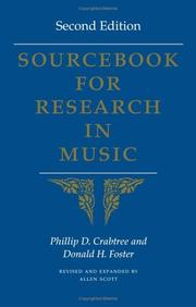 Cover of: Sourcebook for research in music | Phillip Crabtree