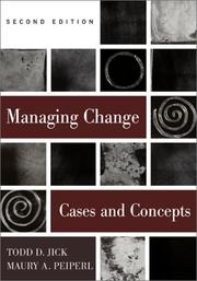 Cover of: Managing change | Todd Jick