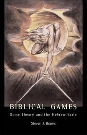 Biblical Games by Steven J. Brams