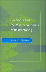 Cover of: Specificity and the Macroeconomics of Restructuring (Yrjö Jahnsson Lectures)