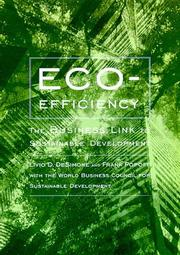Cover of: Eco-efficiency