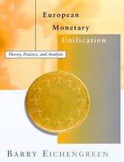 Cover of: European monetary unification