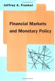 Cover of: Financial markets and monetary policy