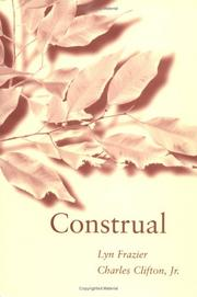 Cover of: Construal | Lyn Frazier