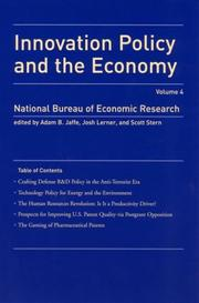 Cover of: Innovation Policy and the Economy, Volume 4 (NBER Innovation Policy and the Economy) |