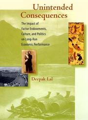 Cover of: Unintended consequences