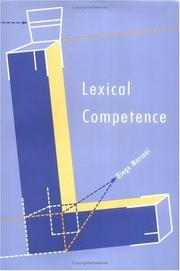 Cover of: Lexical competence | Diego Marconi