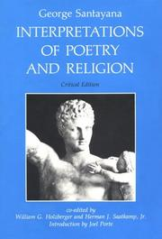 Cover of: Interpretations of poetry and religion