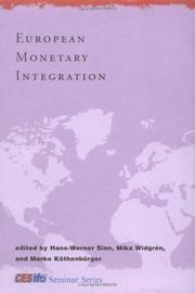 Cover of: European monetary integration |