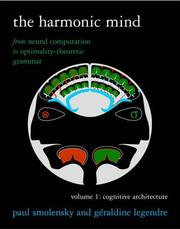 Cover of: The harmonic mind | Paul Smolensky