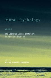 Cover of: Moral Psychology, Volume 2: The Cognitive Science of Morality | Walter Sinnott-Armstrong