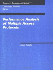 "Cover of: Performance analysis of multiple access protocols | ShuМ""ji Tasaka"