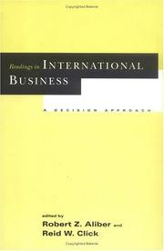 Cover of: Readings in international business |