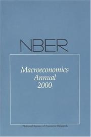 Cover of: NBER Macroeconomics Annual 2000 | Kenneth Rogoff