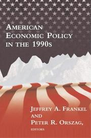 Cover of: American economic policy in the 1990s