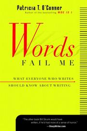 Cover of: Words Fail  Me | Patricia T. O