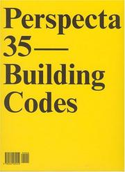 "Cover of: Perspecta 35 ""Building Codes"" 