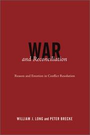 Cover of: War and reconciliation | Long, William J.